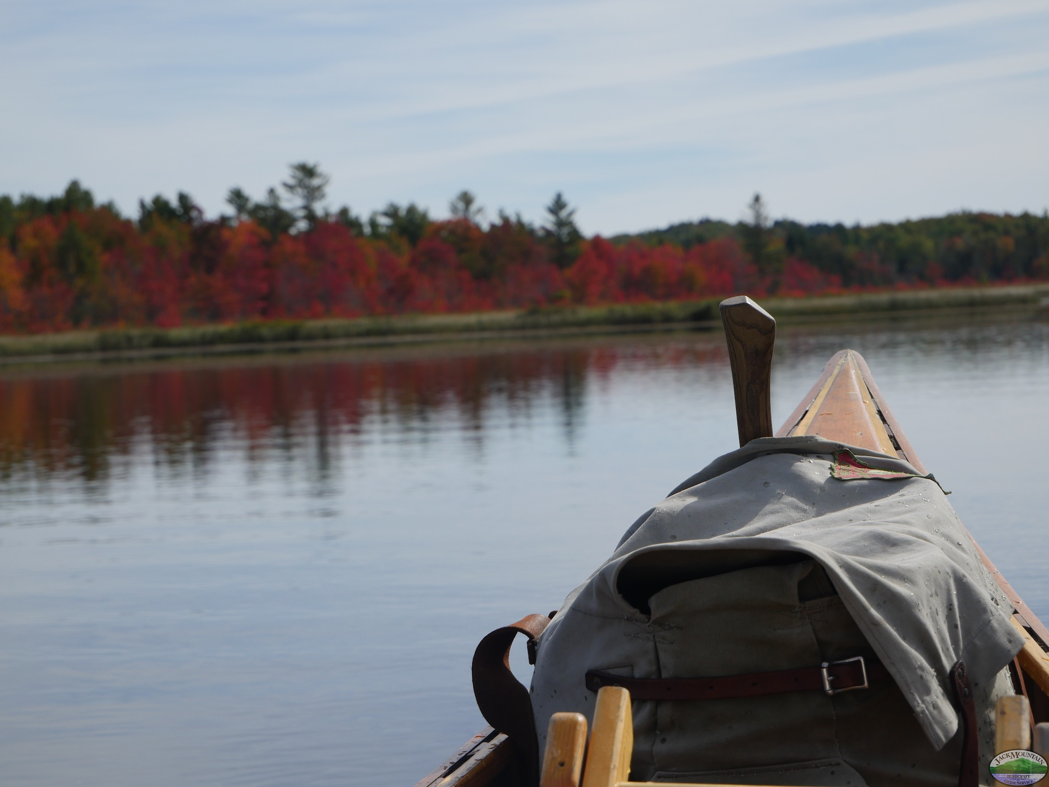 Flaming Red Maples From The Canoe