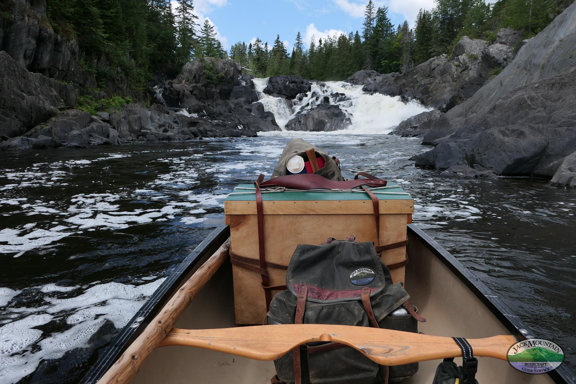 Allagash Falls Canoe View