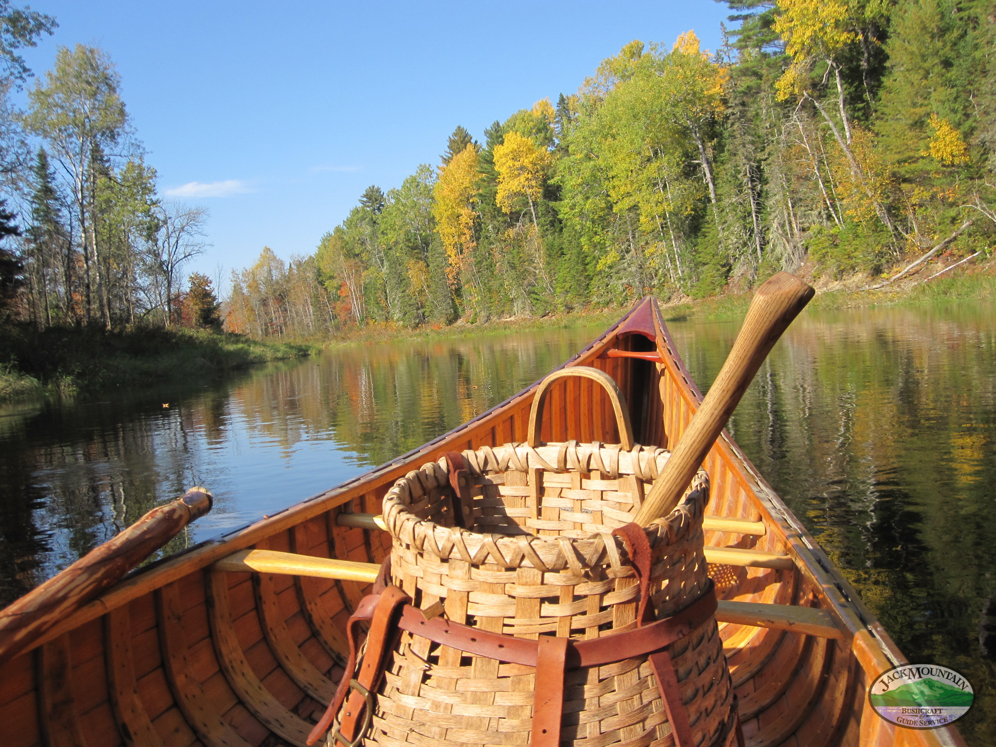 Wood Canoe & Basket SCS